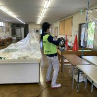 朝霞市浜崎農業交流センターにて予防消毒を行いました。
